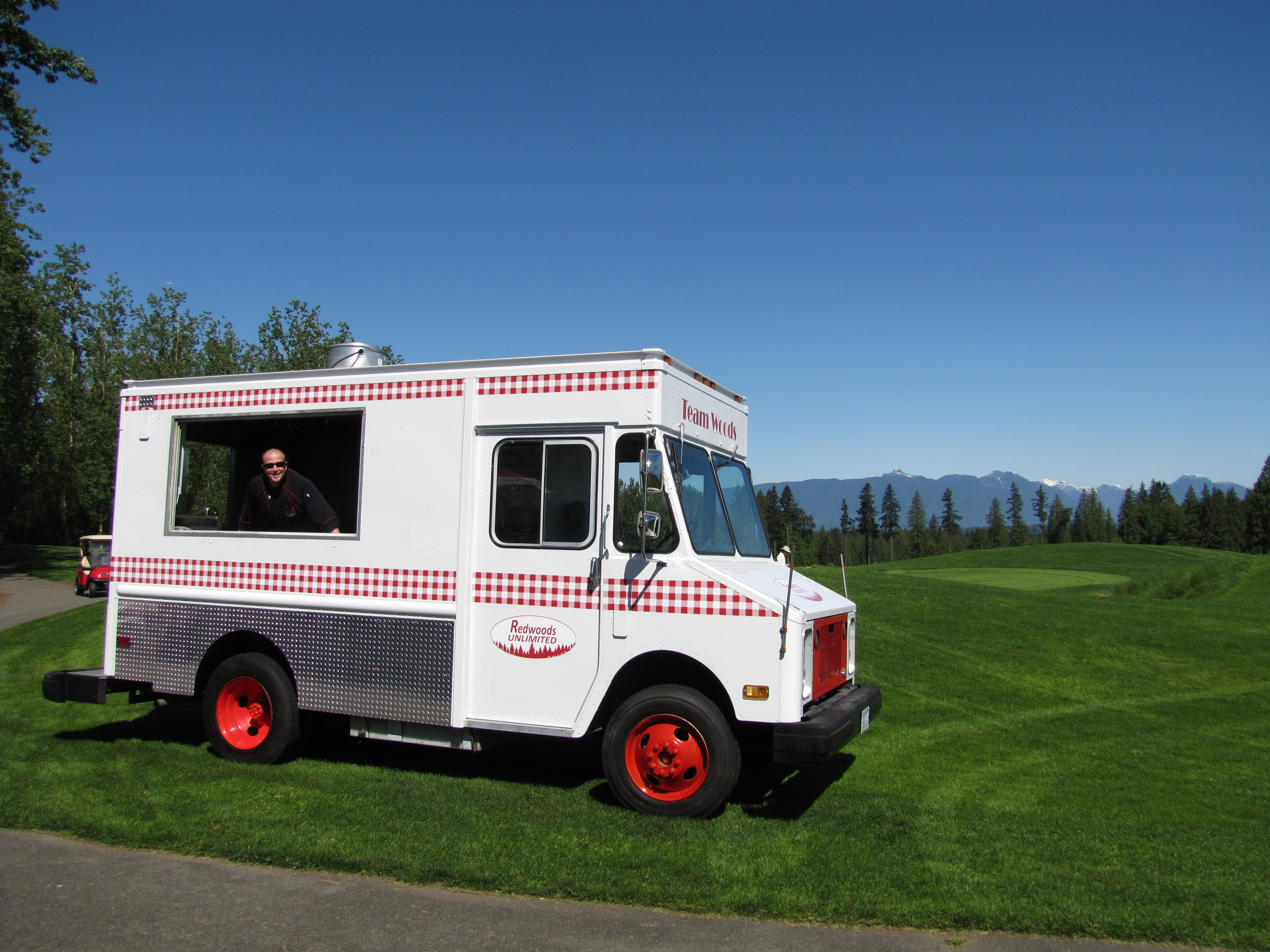 Golf course food truck