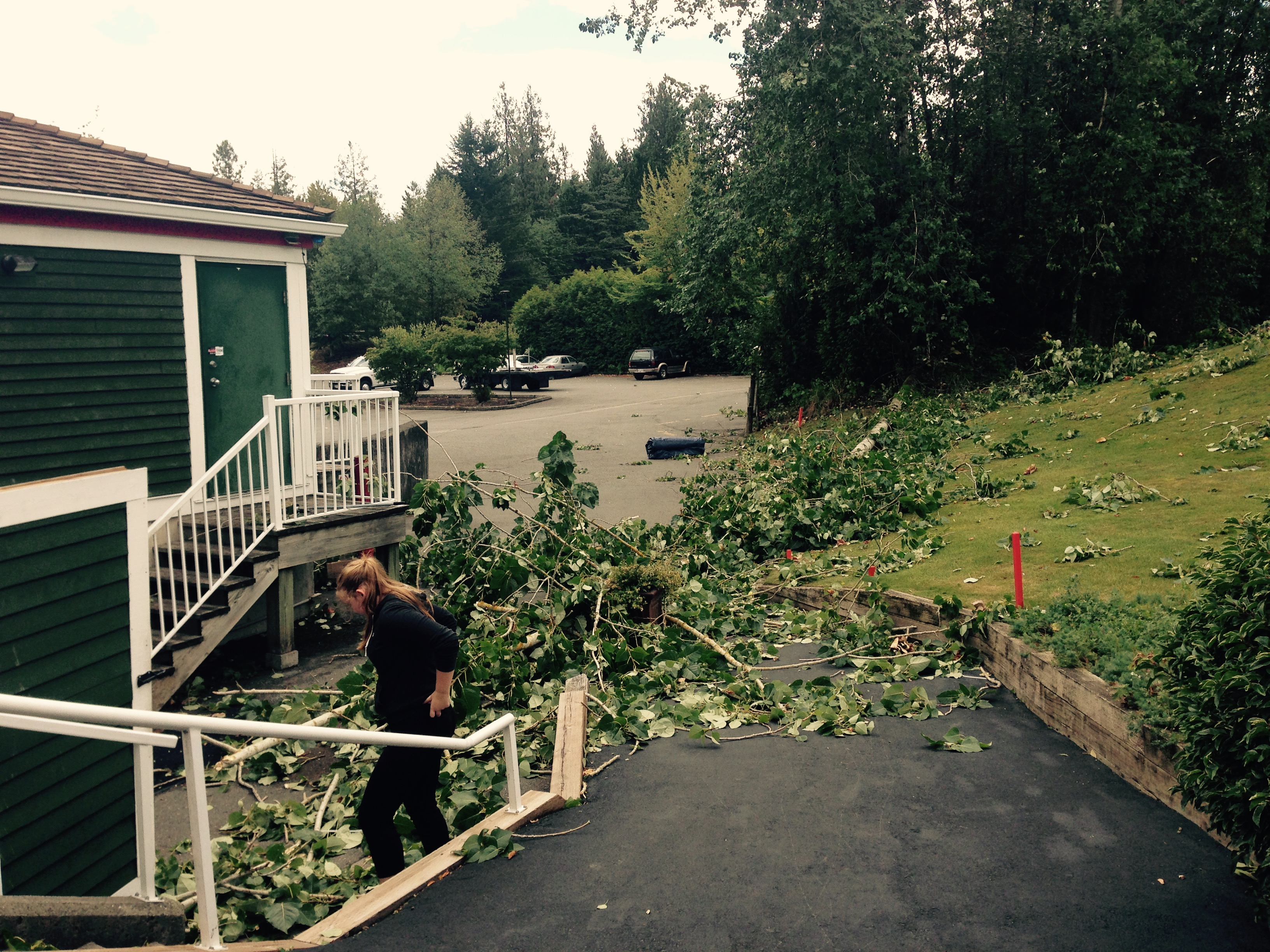 Storm damages at Redwood Golf Course